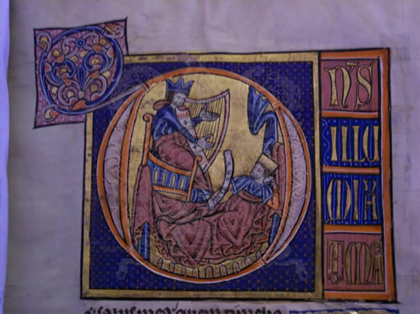 Ms322, f28r, De Brailles' psalter, 13thC