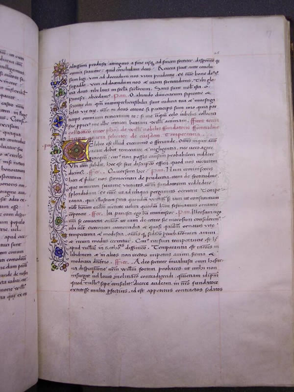 Ms288, f17r, Chaundler's life of William of Wykeham, 15thC