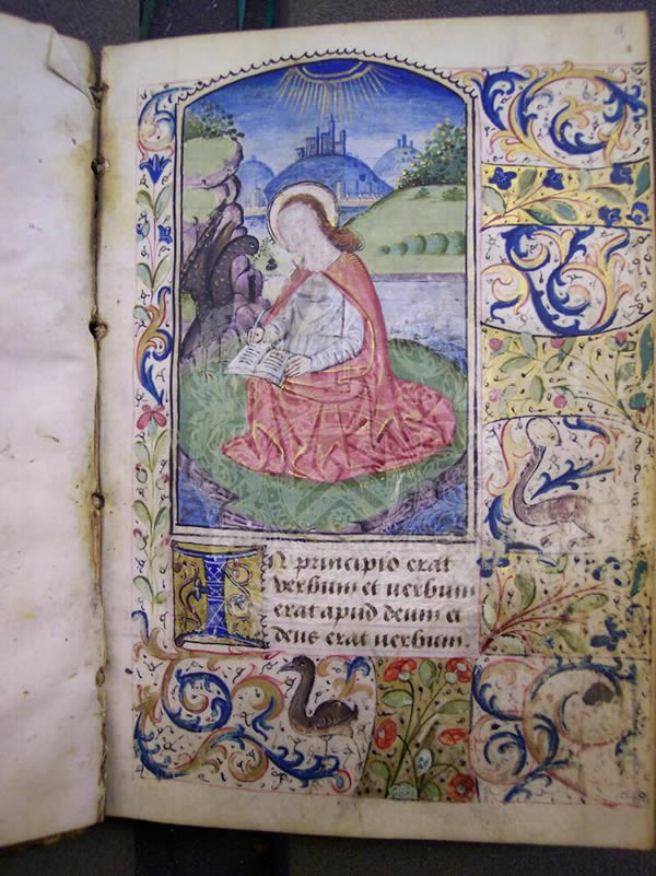 Ms369, f9r, Book of hours, c.1500