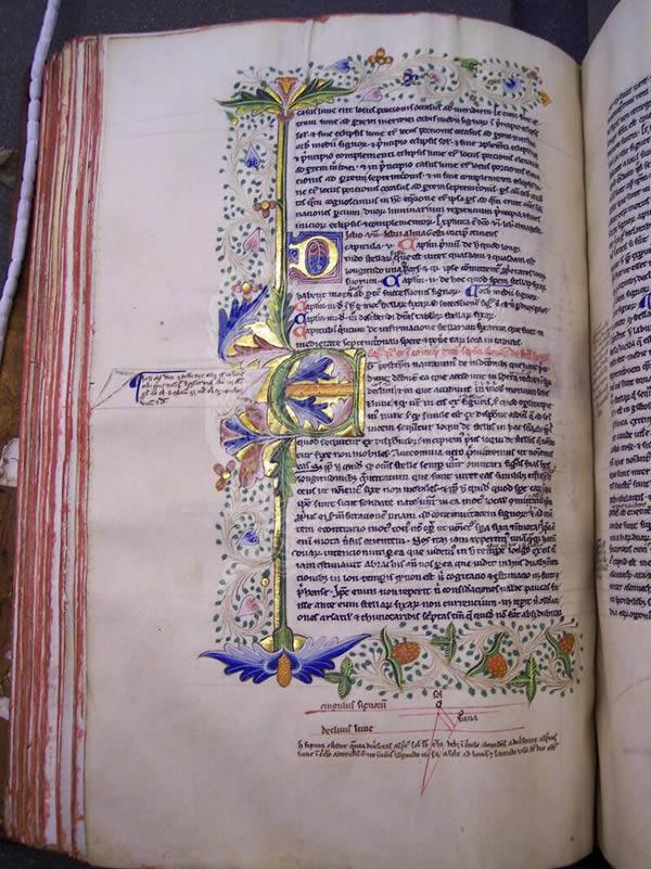 Ms281, f122v, Ptolemy's Almageste, 15thC