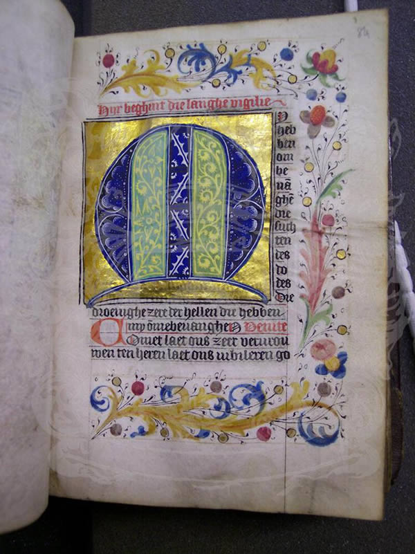 Ms371, f84r, Book of hours, 15thC