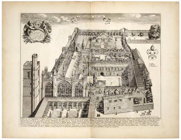 BT1.5.3, plate 19 of New College, David Loggan's Oxonia Illustrata, 1675