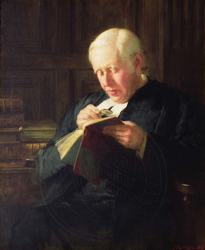 William Archibald Spooner (1844-1930), Warden of New College, after whom the linguistic phenomenon 'spoonerism' is named.