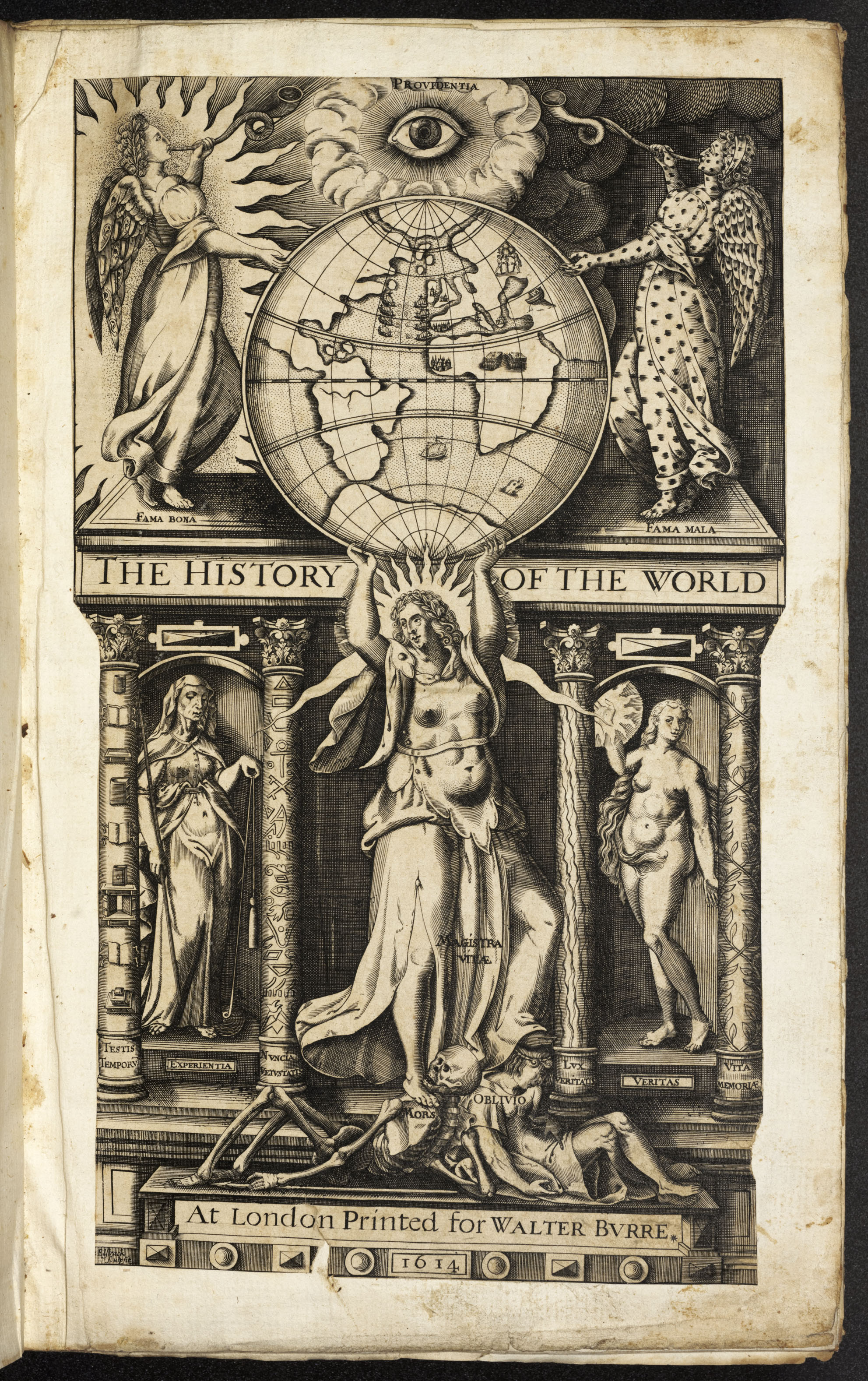 BT1.5.15, title page, Walter Raleigh's History of the World, 1614