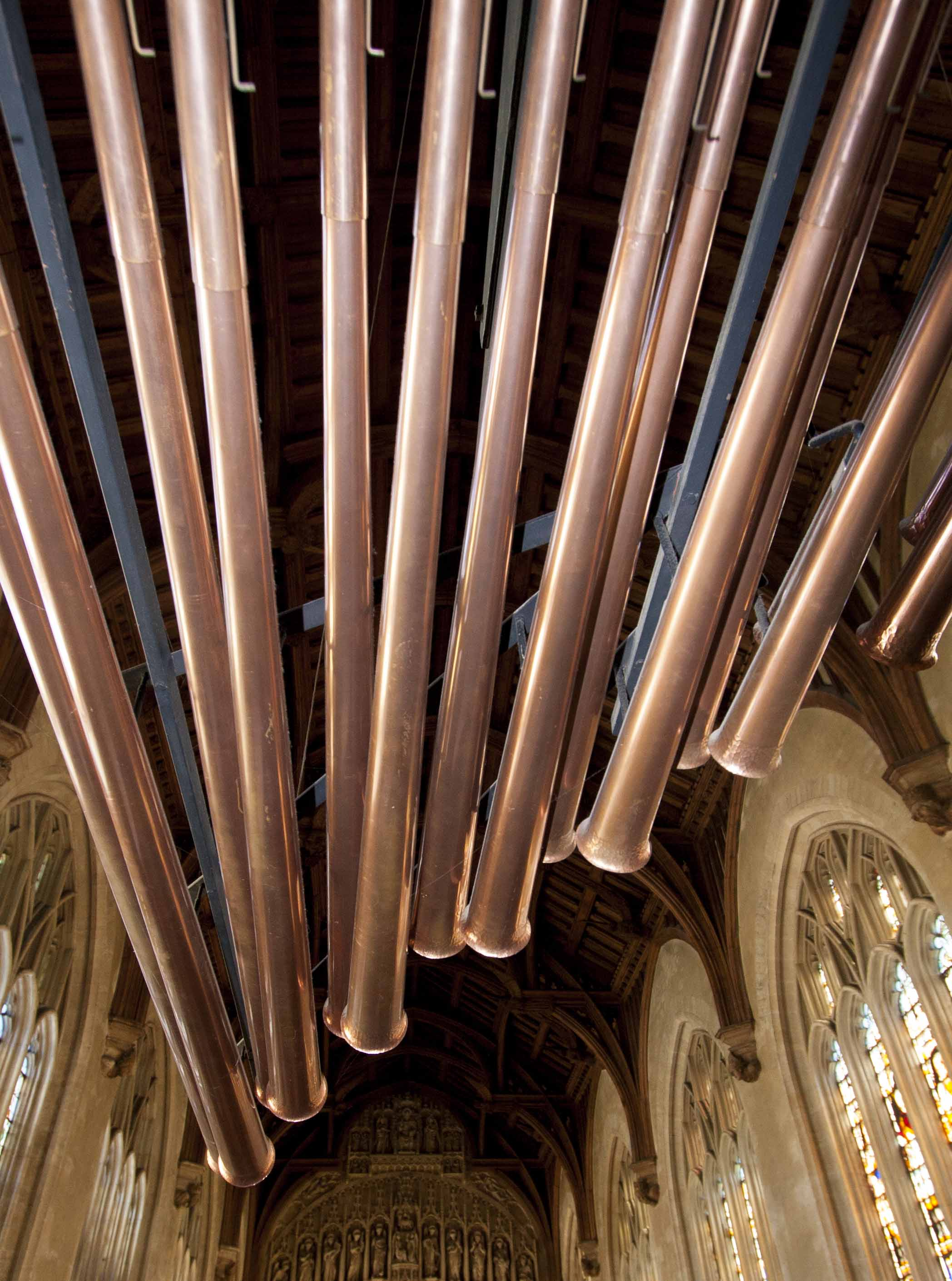 the pipes of the chapel organ