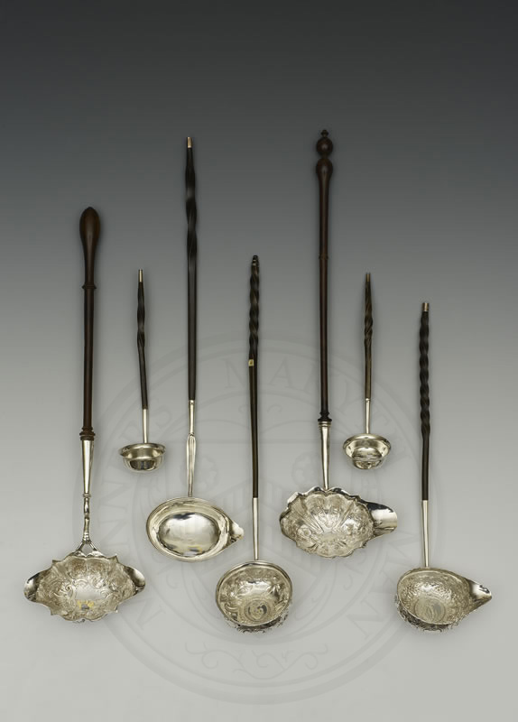 A selection of 18th century ladles