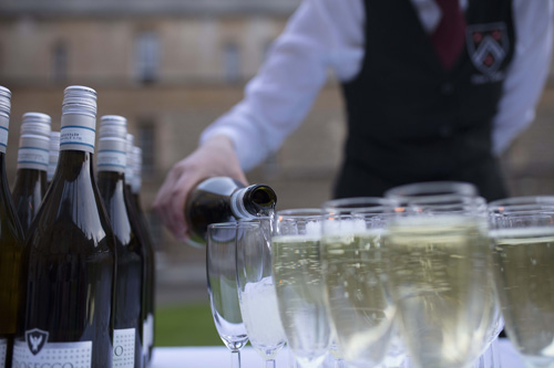 Wine being poured at an event