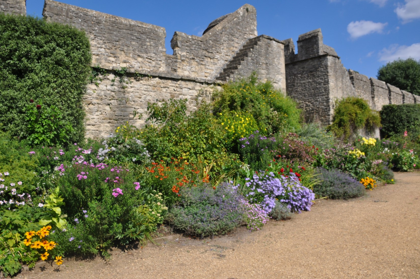 City Wall with herbaceous border