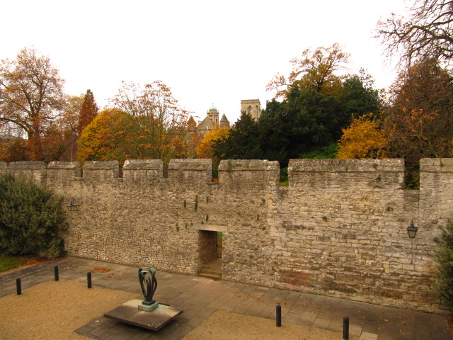 City Wall with autumn trees