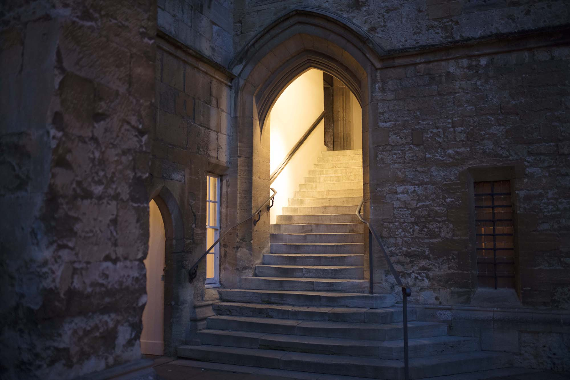 Dining Hall Staircase at Dusk