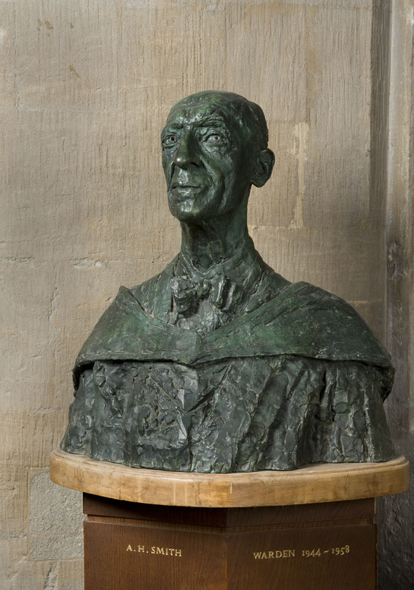 Alic Halford Smith; Warden of New College 1944-58; bronze bust by Jacob Epstein