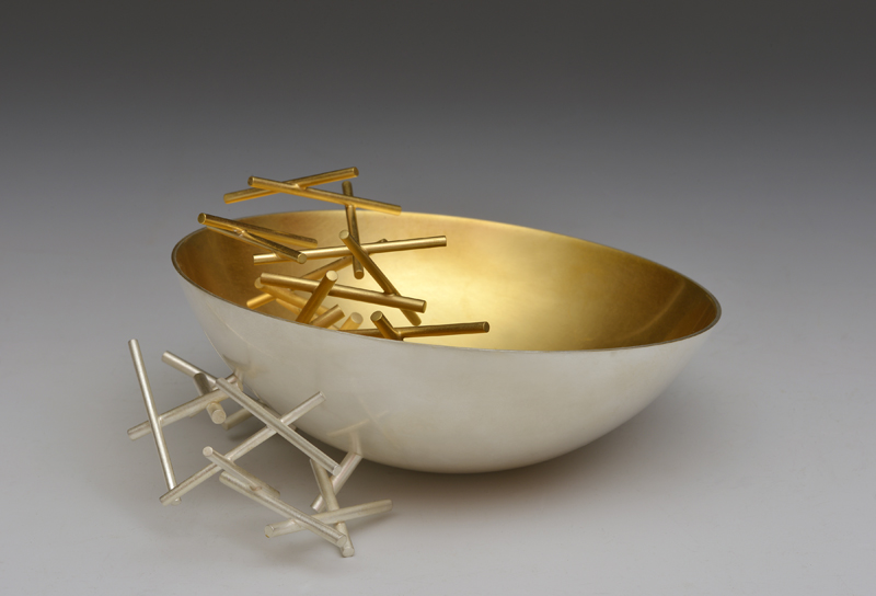 Fingerbowl by Ane Christiansen; silver gilt and commissioned in 2017