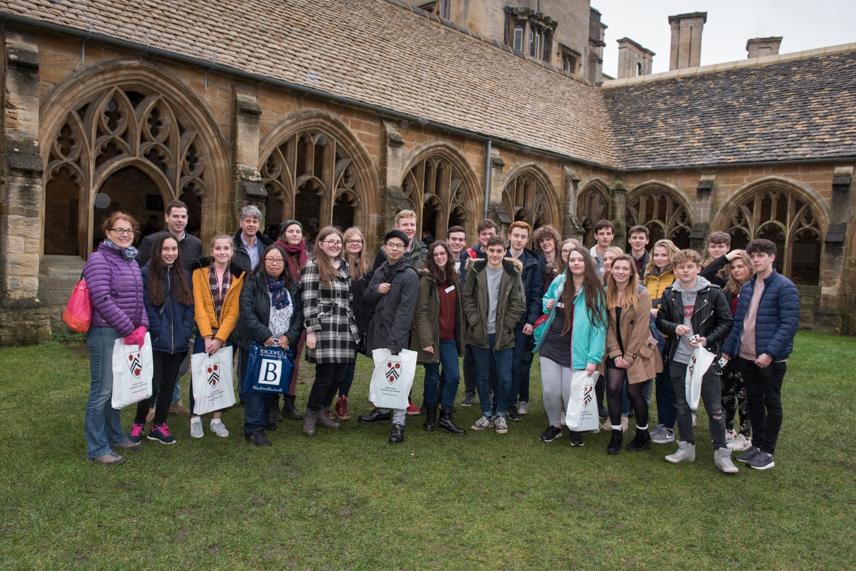 Group photo in Cloisters