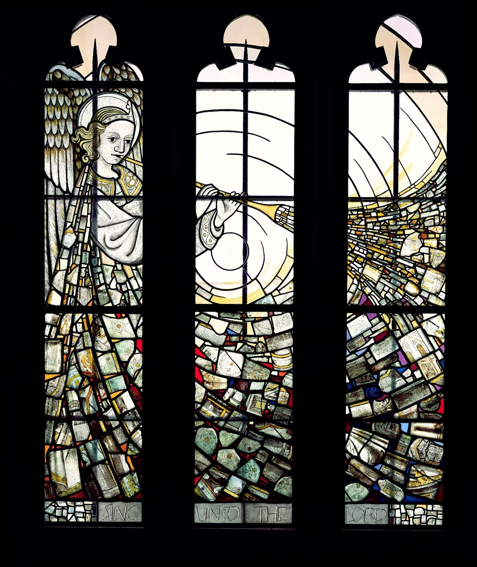 The Angel Trumpeter (Stained glass window)