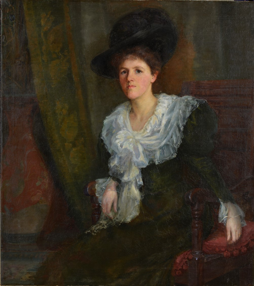 'Portrait of a Seated Lady' by Ethel A Kent, 1890