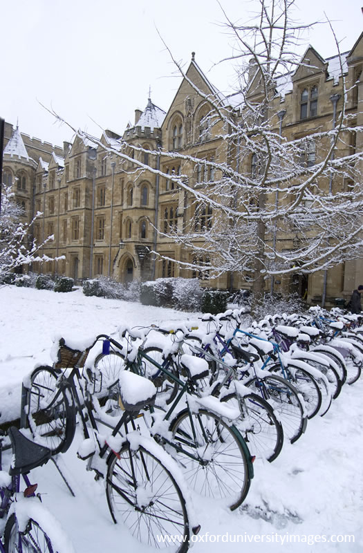 Holywell Quad in the Snow