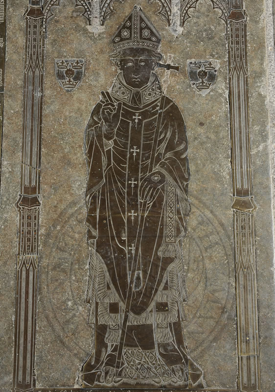 Thomas Cranley, brass, 14th century, Warden of New College (1389-1396)