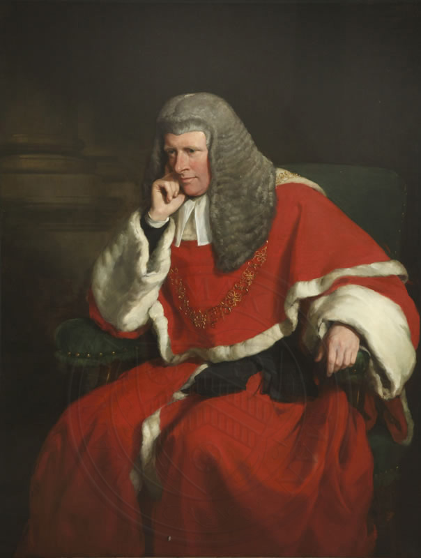 Sir William Erle, Lord Chief Justice, (1859-80) by Sir Francis Grant