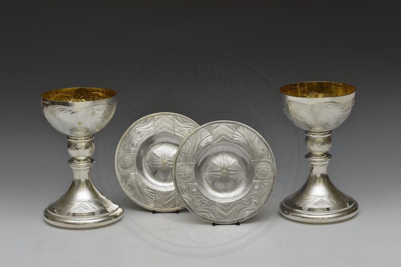 Pair of Chalices and Patens by Rod Kelly