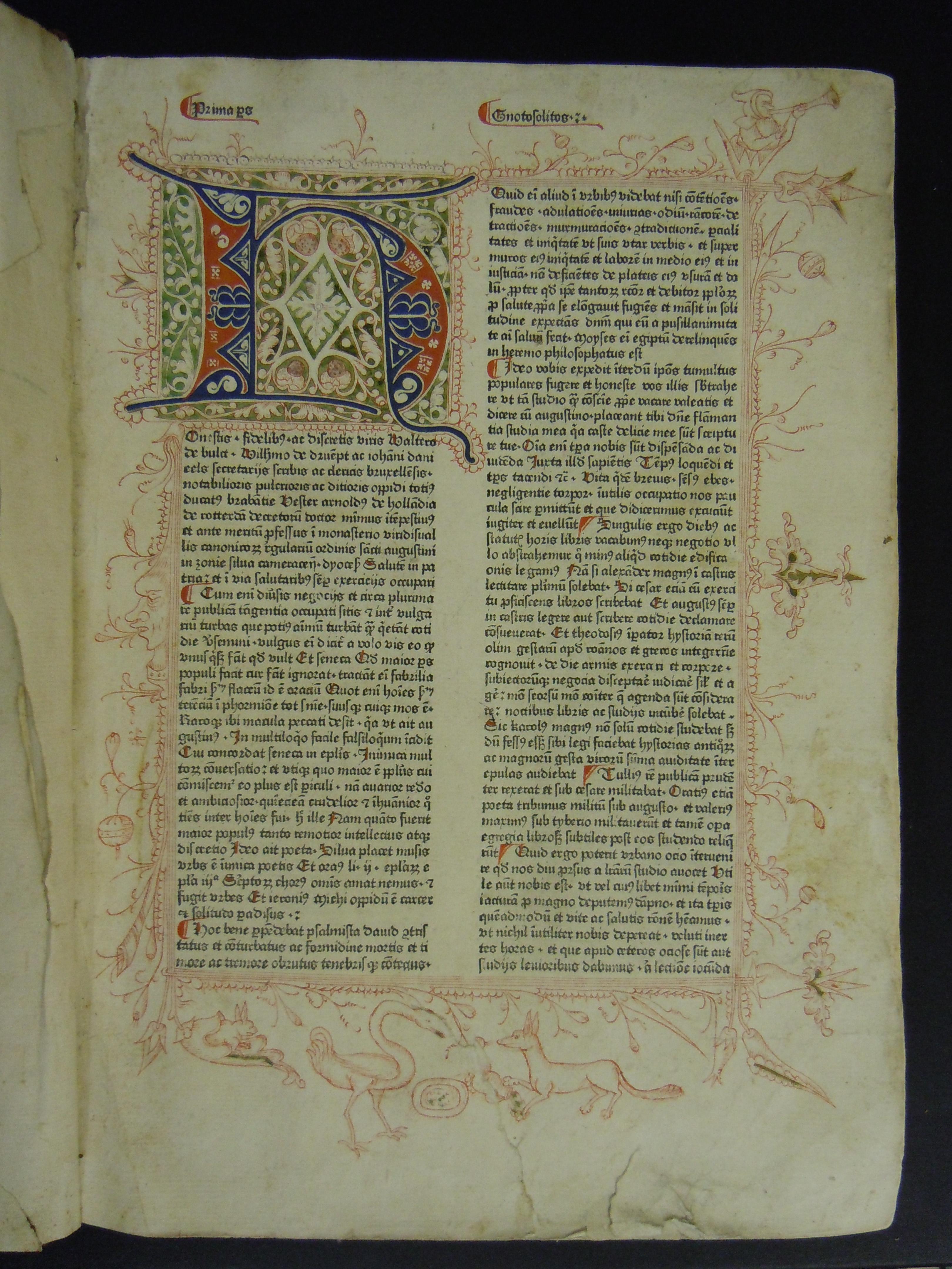 BT1.112.2, f.1r, Arnoldus de Geilhoven's Gnotosolitos, sive Speculum conscientiae, 1476