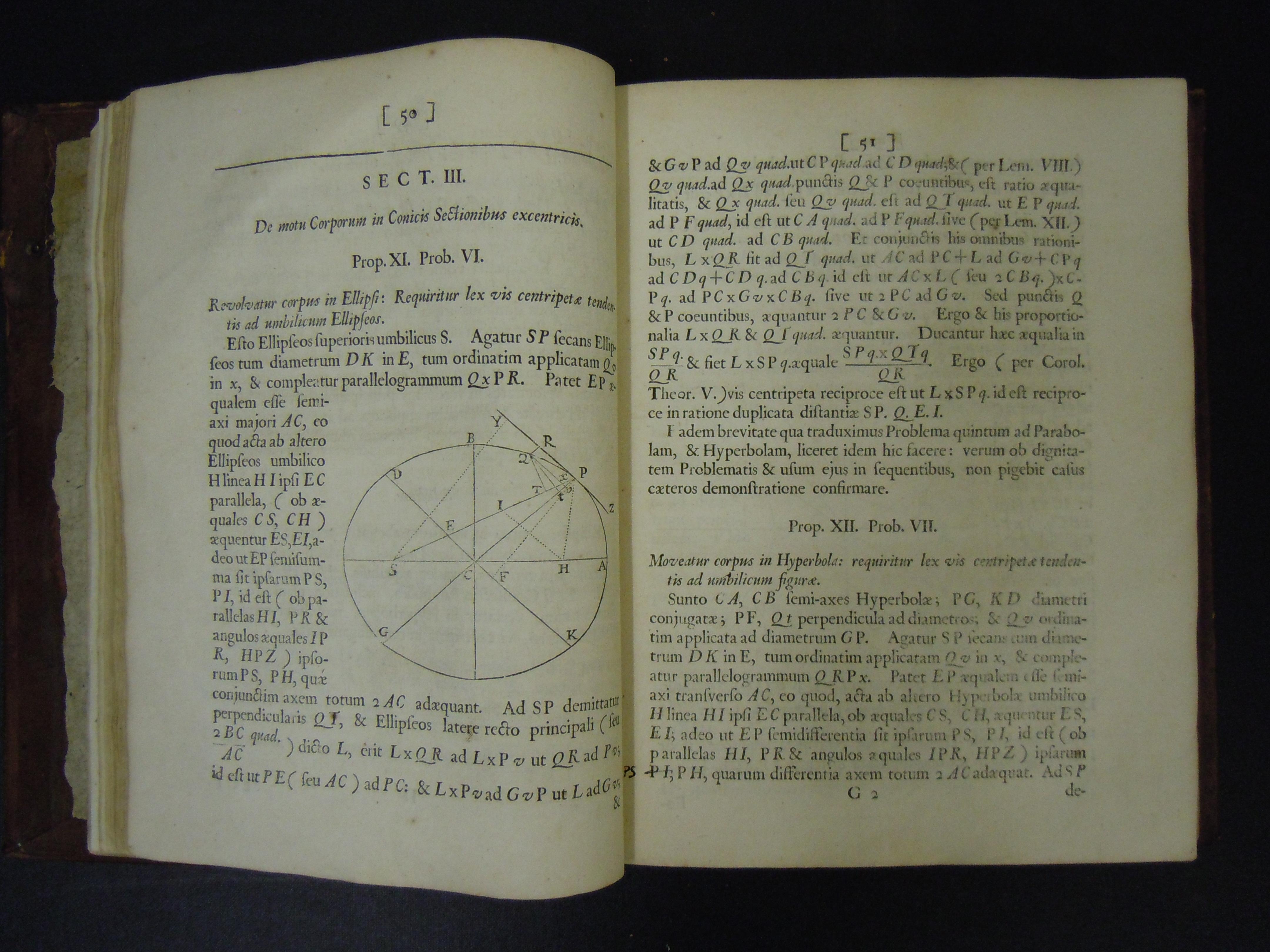 BT1.128.26, p.50-51, Isaac Newton's Philosophiæ naturalis principia mathematica, 1687