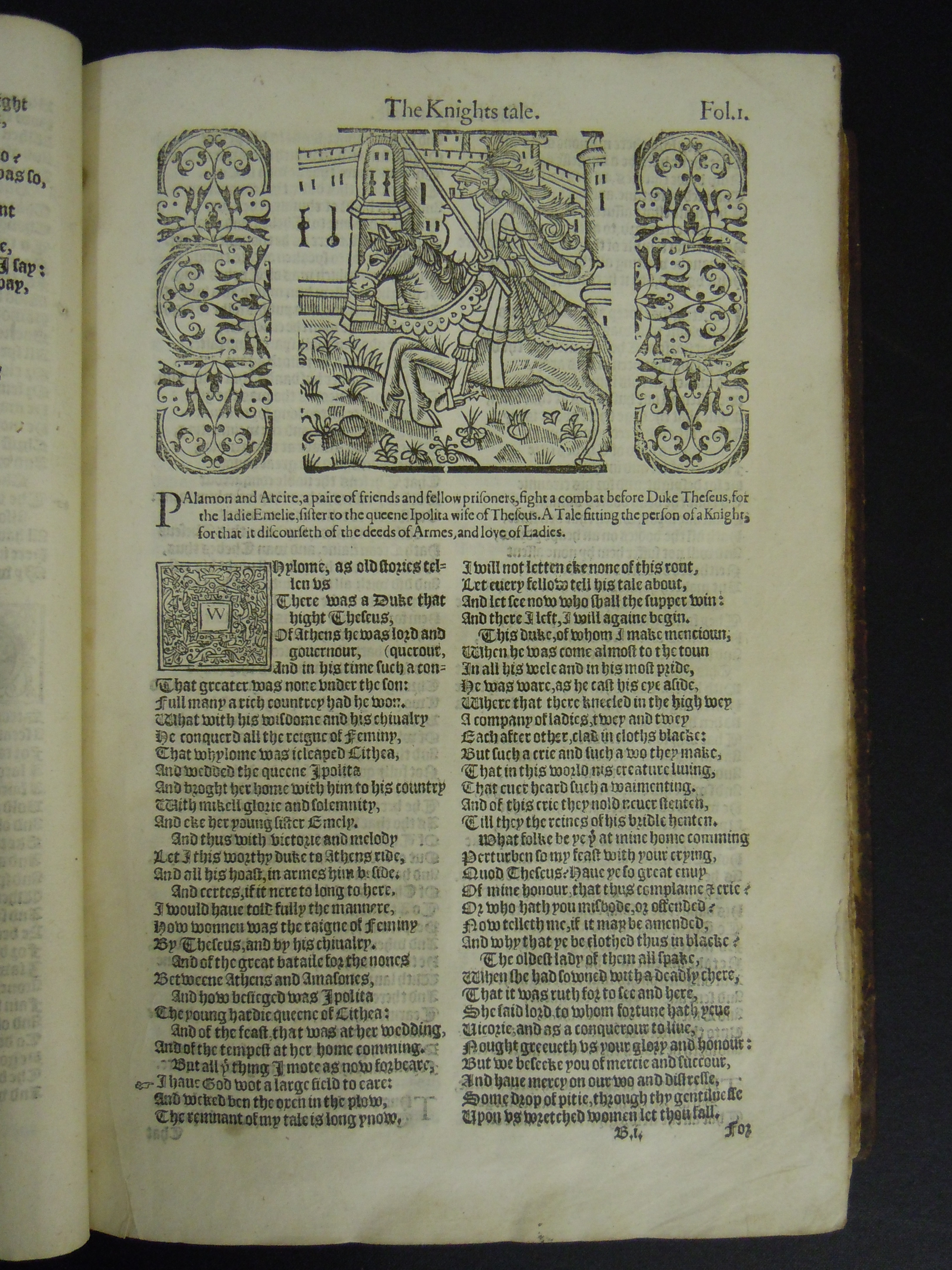 BT1.19.2, fol. 1 (Bi), Geoffrey Chaucer's Works, 1602