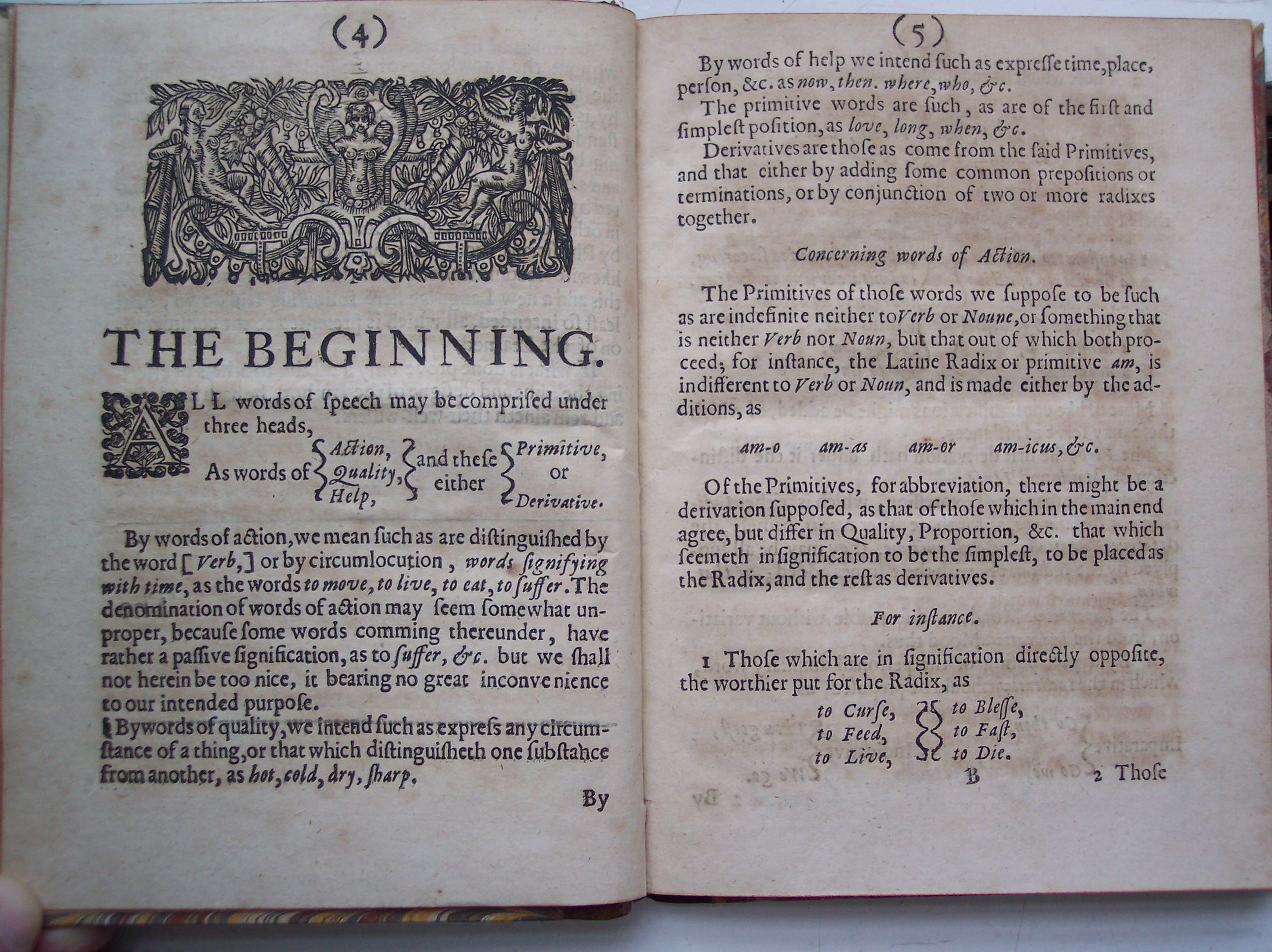 BT3.206.24(1), p.4-5, Francis Lodwick's The ground-work, or foundation laid, (or so intended) for the framing of a new perfect language, 1652