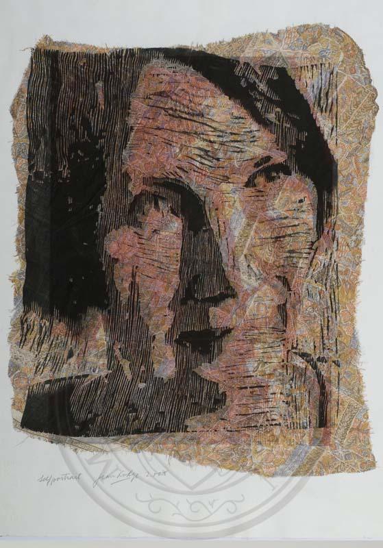 Self Portrait, Jean Lodge, Emeritus Fellow of New College