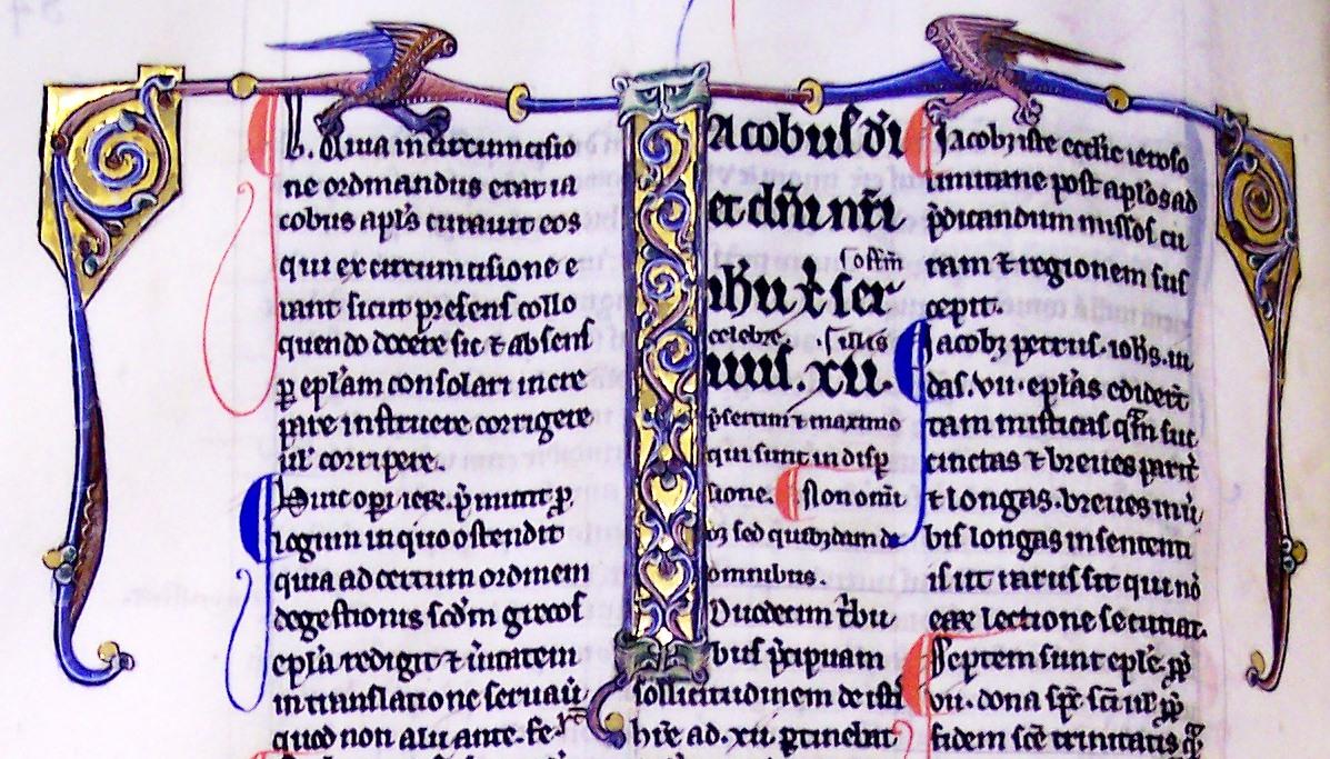 Ms27, f84v, Epistolae septem catholicae, 14thC
