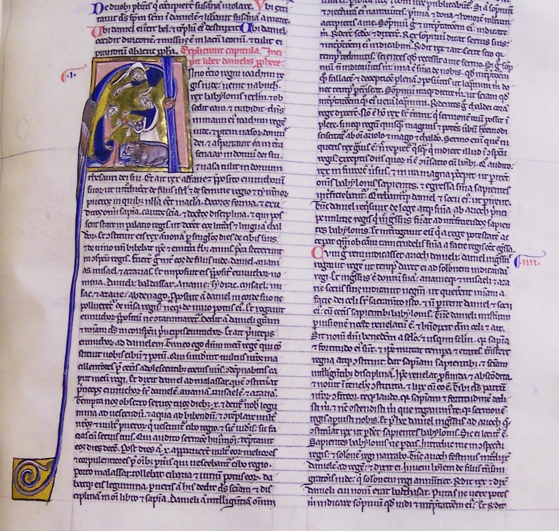 Ms7, f214r, Bible, 13thC