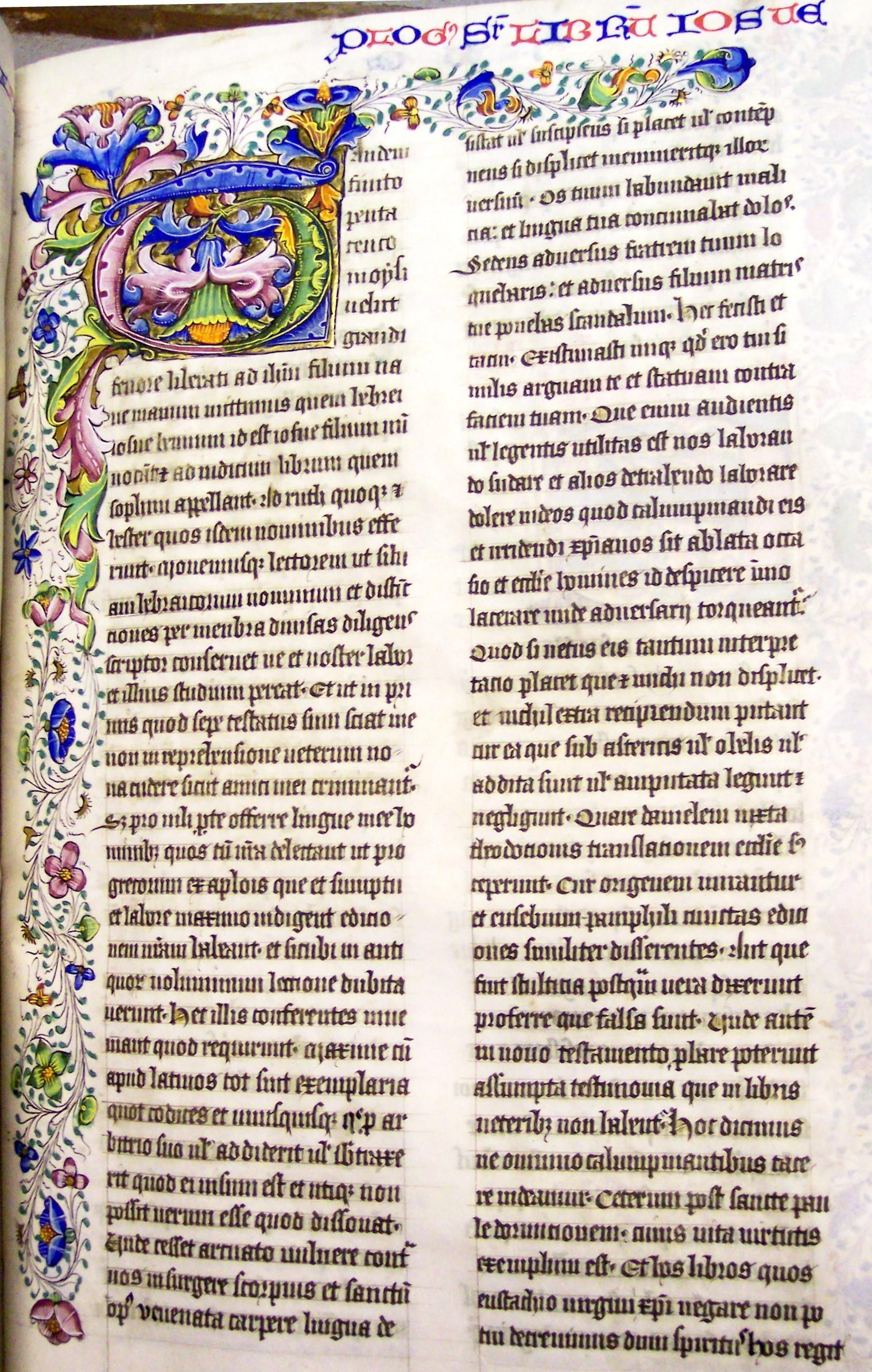 Ms8, f196r, Bible, 15thC