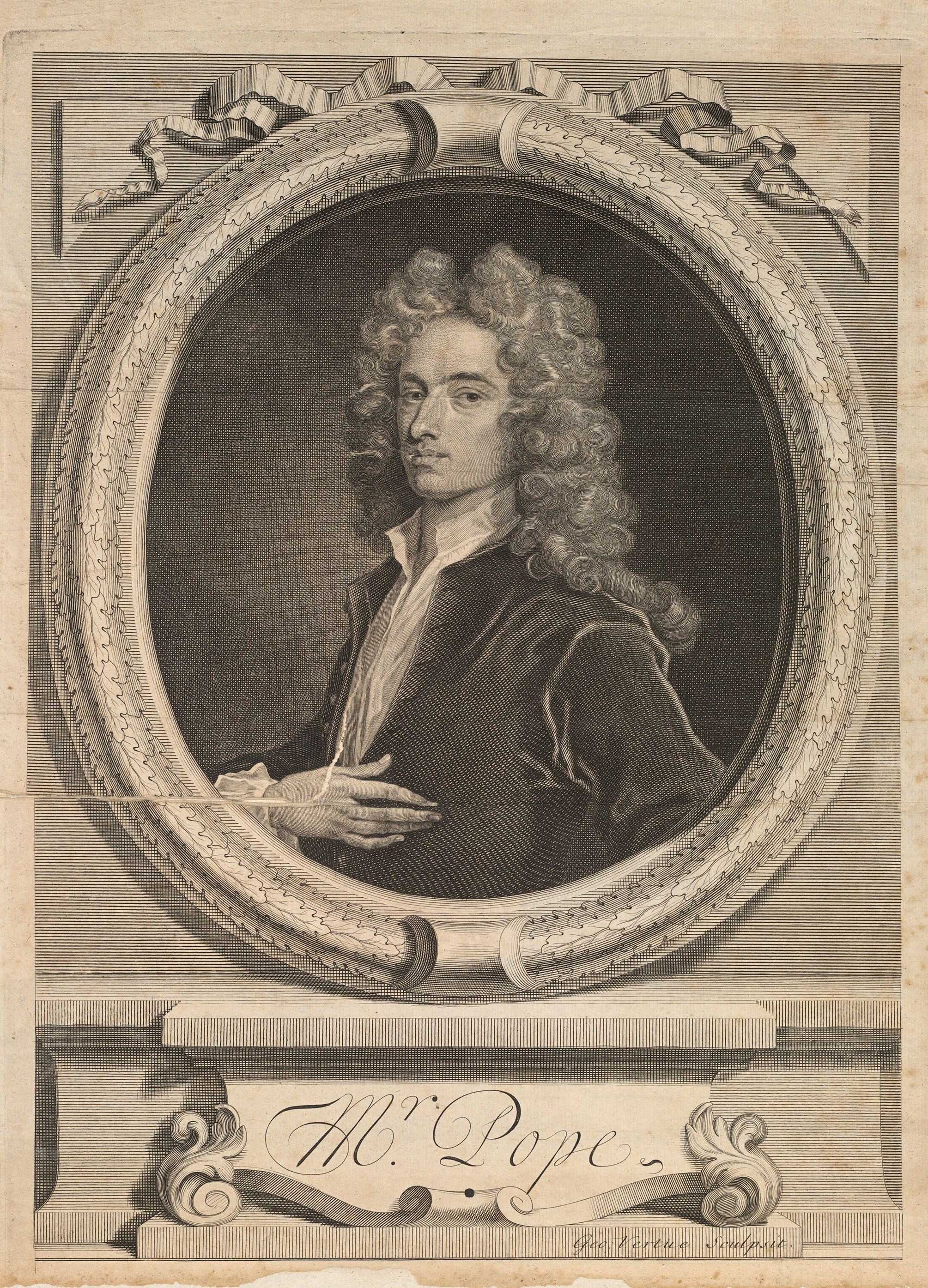 NB.91.18, frontispiece, Alexander Pope's Works, 1717