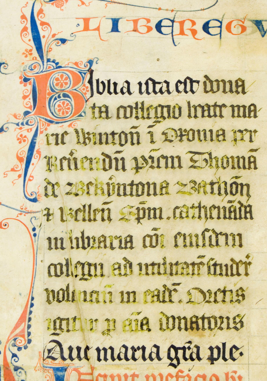 Ms4, f1r, Bible, 13thC