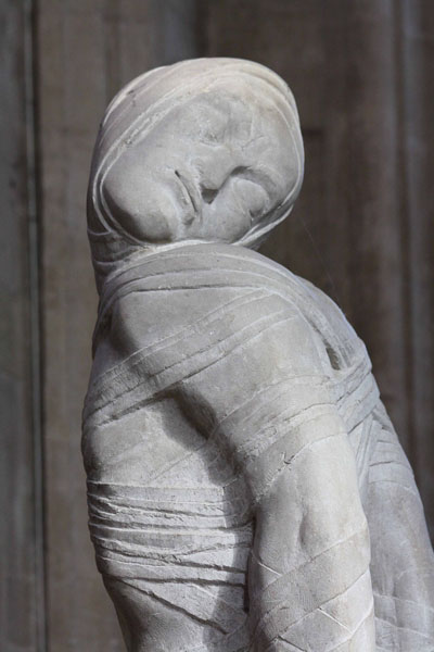 A statue of Lazarus by Jacob Epstein