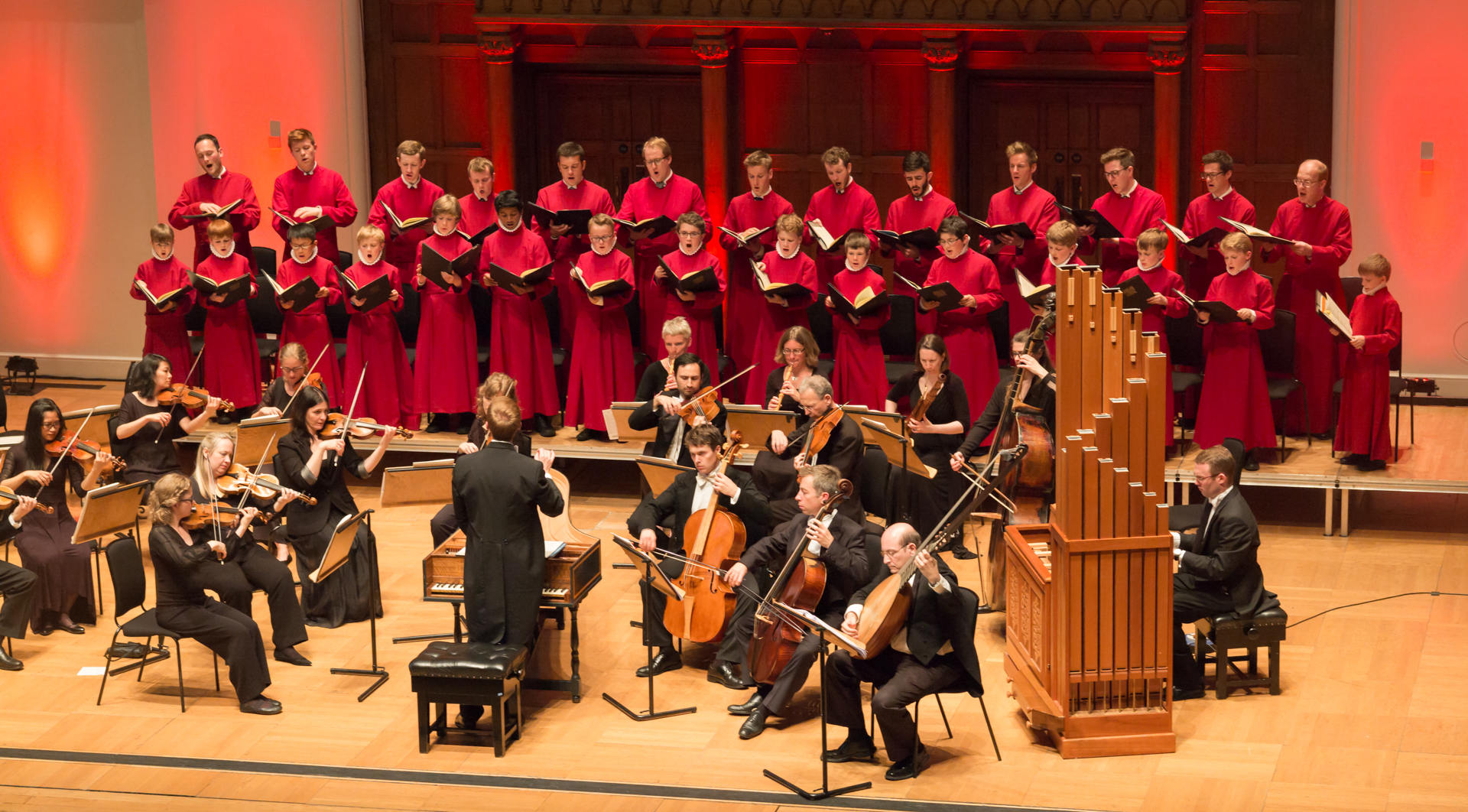 The choir in concert at Cadogan Hall