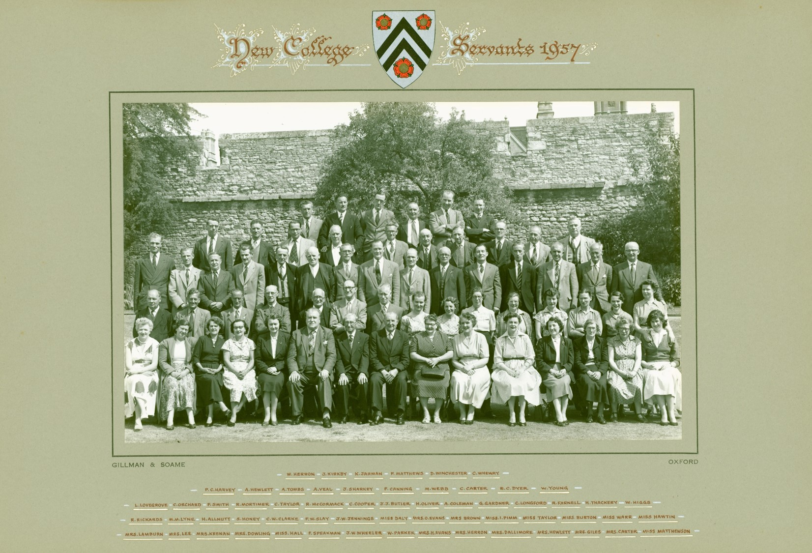 New College Staff 1957 (Gillman & Soame)