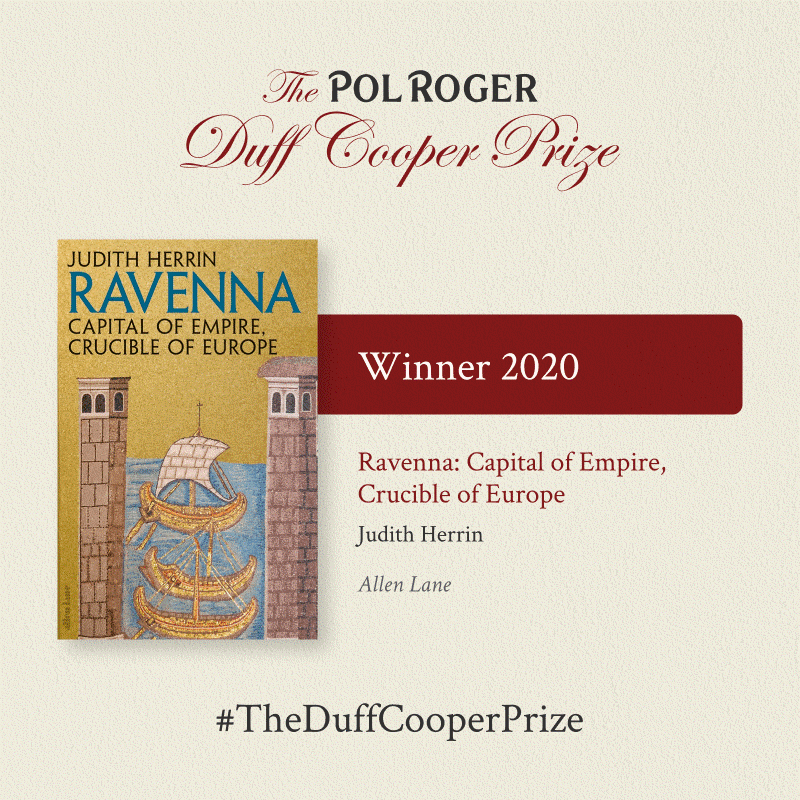 Ravenna front cover and text announcing it as the winner of the Duff Cooper Prize