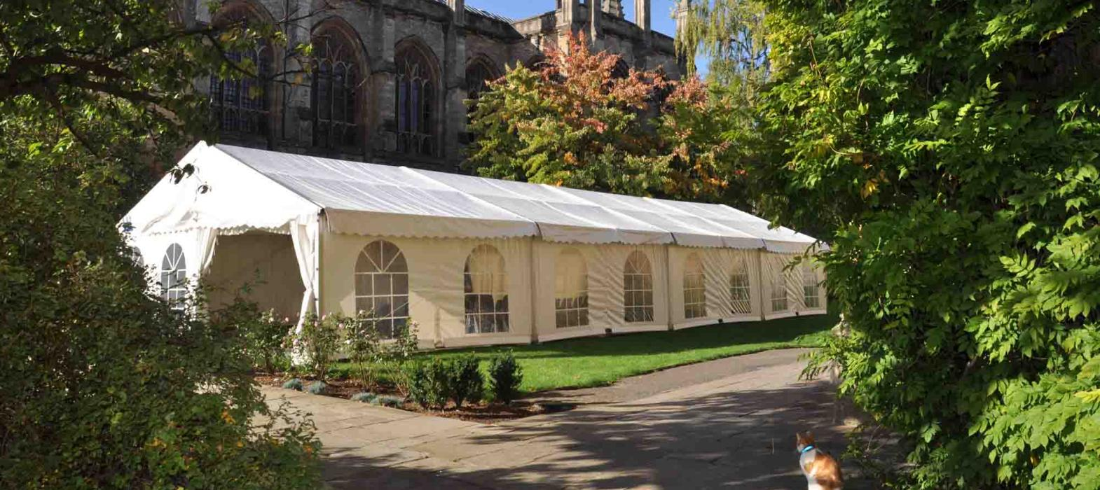 The Freshers' tent