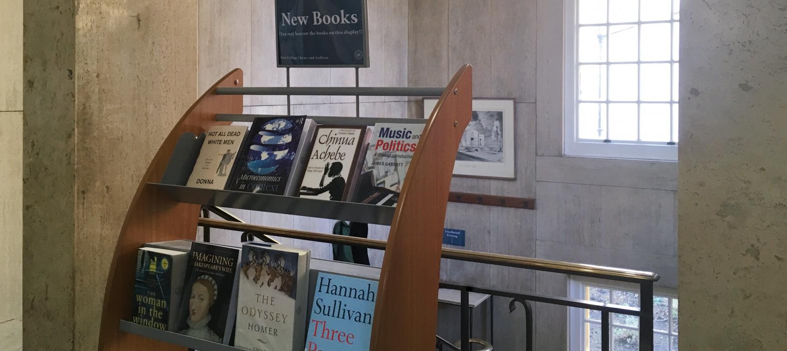 New Books Display, Entrance Hall, New College Library, Oxford