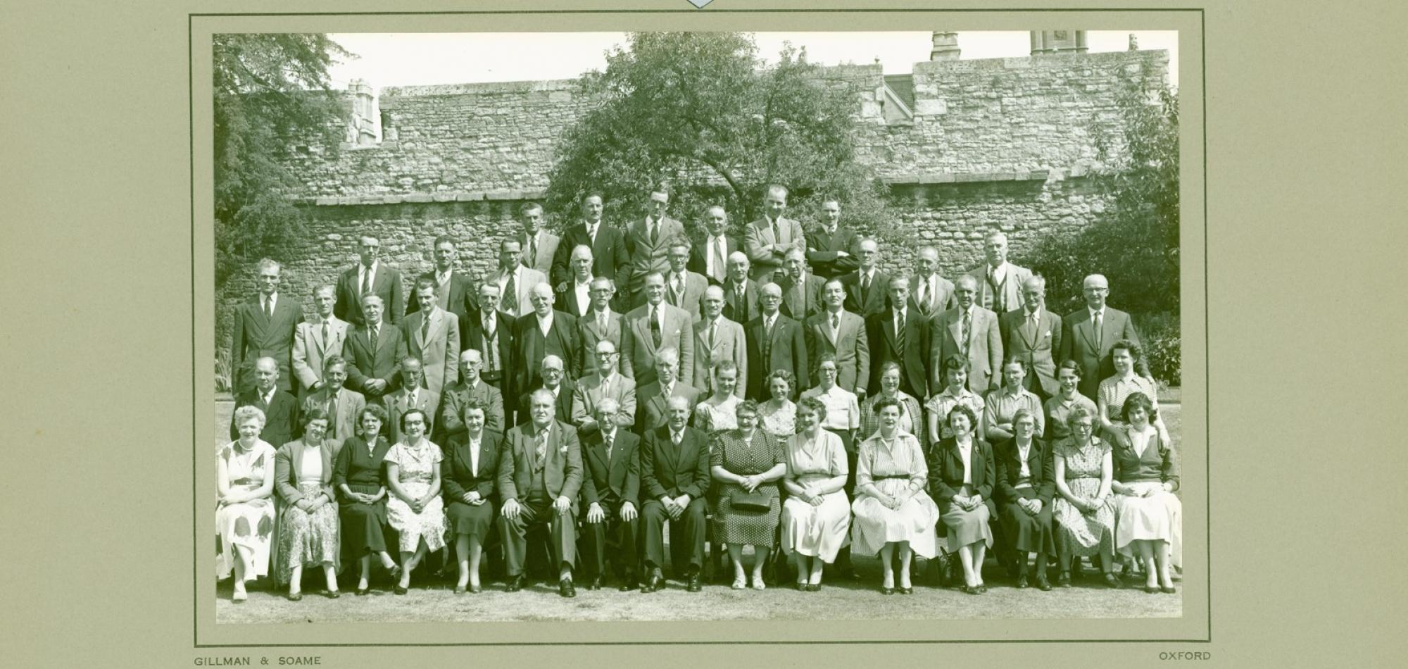 New College Staff, 1957 (Gillman & Soame)