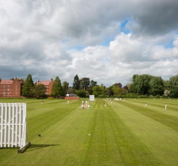 Cricket at the Weston Buildings