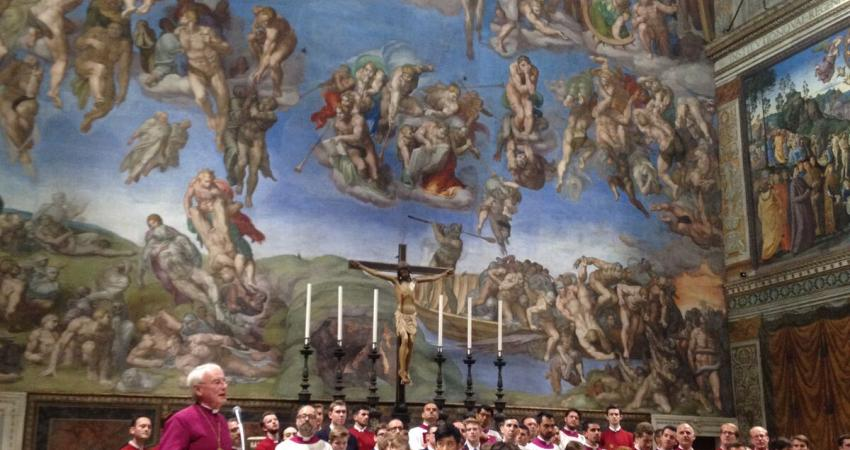 The Choir on tour in Rome