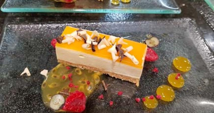 Passion Fruit & white chocolate delice