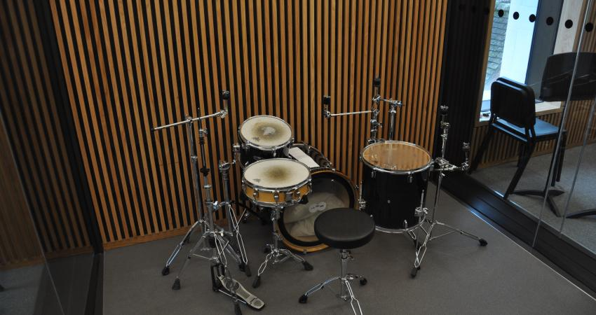 Drums in the brass room
