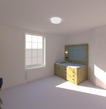Longwall accessible room impression