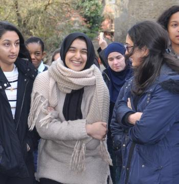 Students on visit to New College