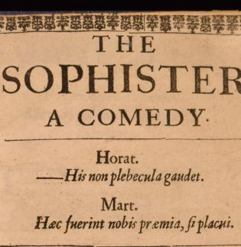 Top of the title page from 'The Sophister'